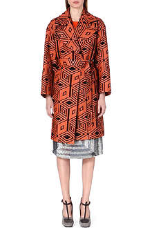 DRIES VAN NOTEN Rhonda textured jacquard coat