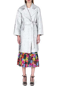 DRIES VAN NOTEN Rhonda textured metallic coat
