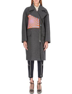 DRIES VAN NOTEN Rhonda geometric-patch wool coat