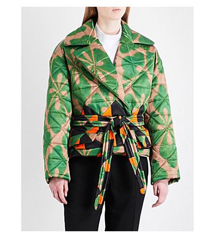 DRIES VAN NOTEN Rhonda satin and cotton-blend jacket (Des+b