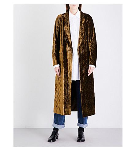 DRIES VAN NOTEN Rianca velvet coat (Brown