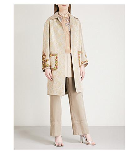 DRIES VAN NOTEN Ricard embellished woven jacket (L+grey