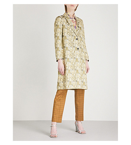 DRIES VAN NOTEN Ricks jacquard coat (Green