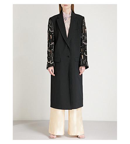 DRIES VAN NOTEN Embroidered-detail woven jacket (Black