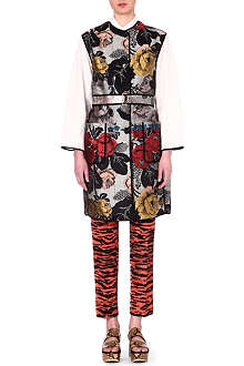 DRIES VAN NOTEN Jacquard silk-blend coat