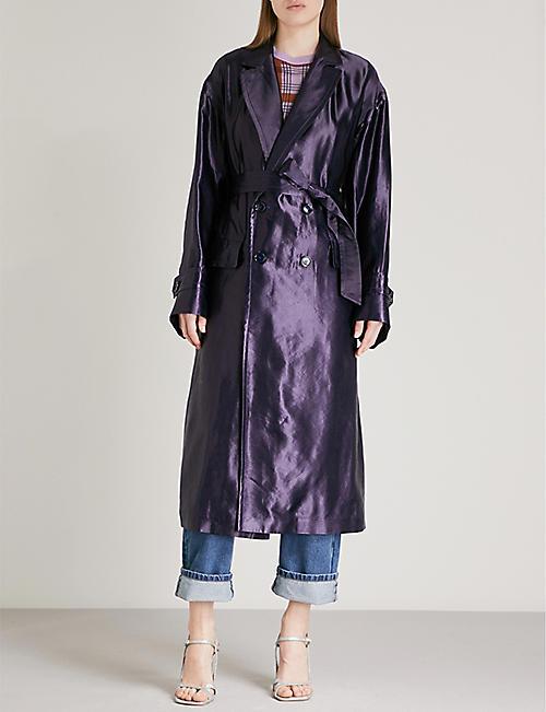 DRIES VAN NOTEN Romila linen-blend coat