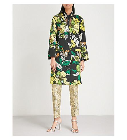 DRIES VAN NOTEN Rotal floral jacquard coat (Green