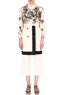 DRIES VAN NOTEN Jaquard silk-blend trench coat