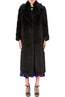 DRIES VAN NOTEN Rozene faux-fur coat