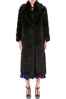 DRIES VAN NOTEN Rozene faux-fur coat