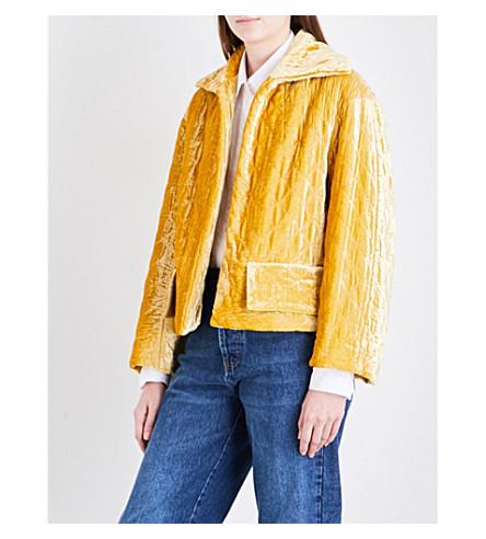 DRIES VAN NOTEN Ruddy velvet jacket (Yellow