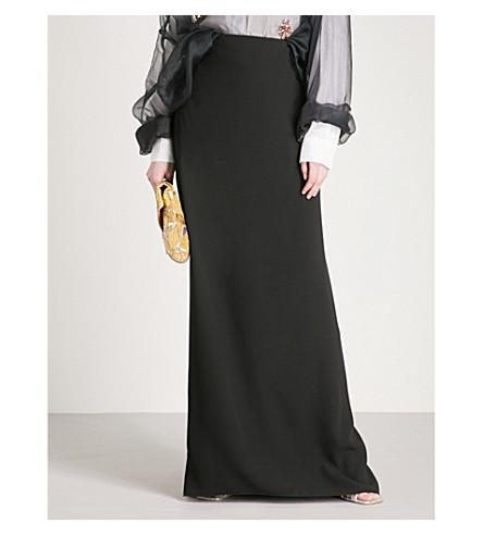 DRIES VAN NOTEN Salvix crepe maxi skirt (Black