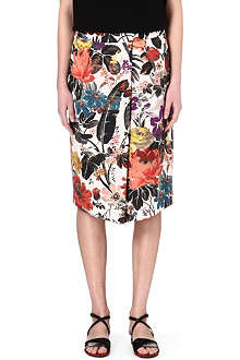DRIES VAN NOTEN Floral printed skirt