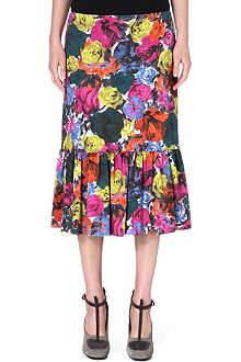 DRIES VAN NOTEN Sandrina floral-print skirt