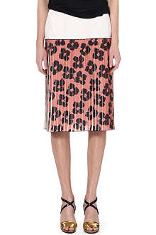 DRIES VAN NOTEN Floral pleated skirt