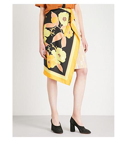 DRIES VAN NOTEN High-rise woven wrap skirt (Beige