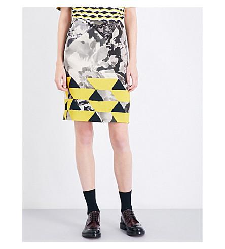 DRIES VAN NOTEN Scranton geo-print crepe pencil skirt (Desa