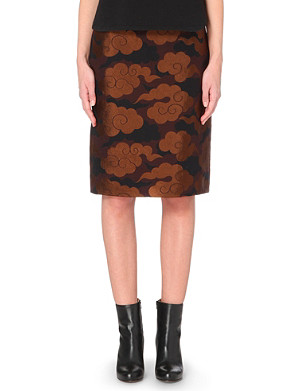DRIES VAN NOTEN Scranton brocade pencil skirt
