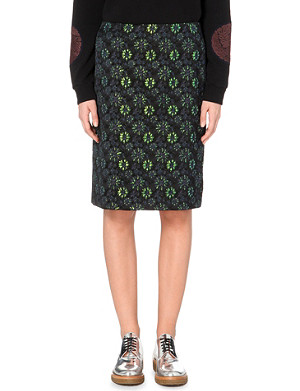 DRIES VAN NOTEN Scranton floral-jacquard pencil skirt