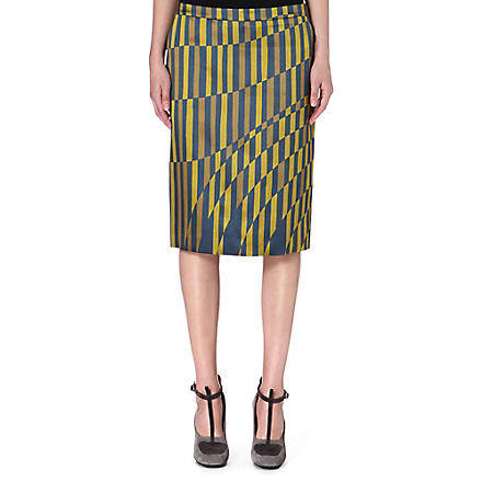 DRIES VAN NOTEN Selah printed skirt (Yellow