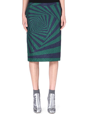 DRIES VAN NOTEN Selah quilted skirt