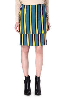 DRIES VAN NOTEN Selma striped skirt