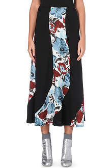 DRIES VAN NOTEN Sharne panelled midi skirt