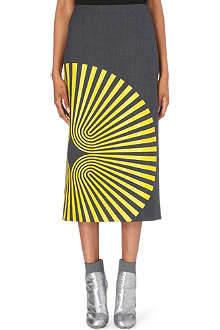 DRIES VAN NOTEN Shea printed pencil skirt
