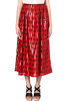 DRIES VAN NOTEN Raffia skirt