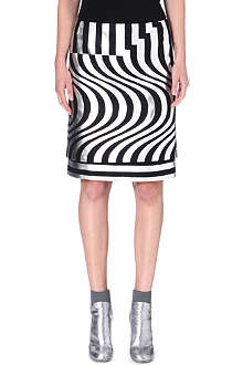DRIES VAN NOTEN Silvia geometric-print skirt