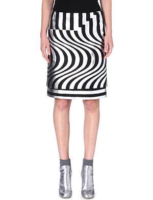 DRIES VAN NOTEN Silvia geometric-print skirt
