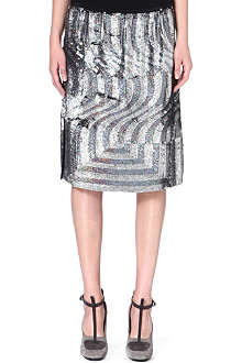 DRIES VAN NOTEN Sisika sequinned silk skirt