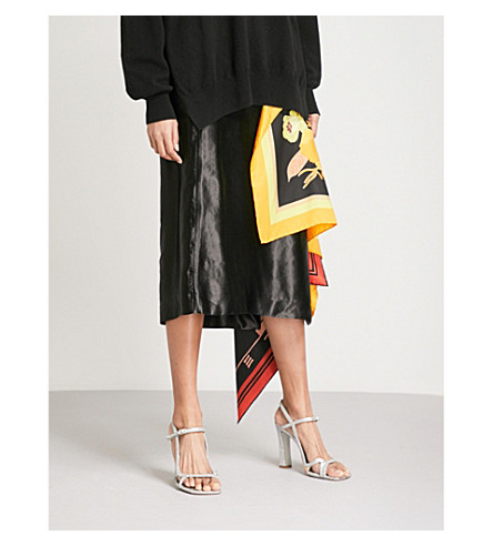 DRIES VAN NOTEN Spes scarf-detail satin skirt (Black