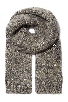 DRIES VAN NOTEN Crystal-embellished scarf