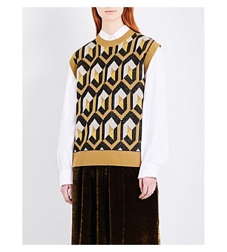 DRIES VAN NOTEN Tahnee sleeveless knitted jumper (Mustard
