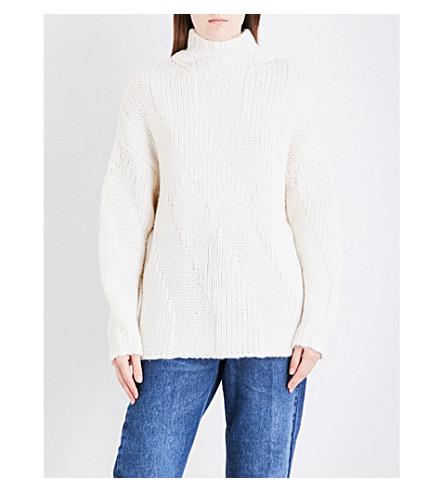DRIES VAN NOTEN Talia wool-blend jumper (White