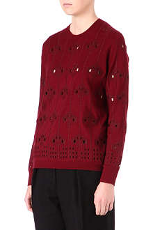 DRIES VAN NOTEN Wallpaper print knitted jumper