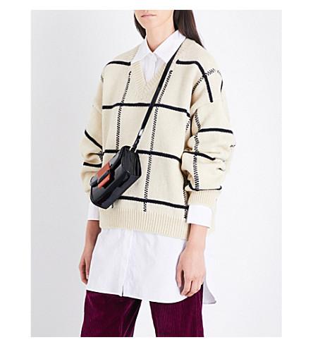 DRIES VAN NOTEN Tanju check wool jumper (Ecru
