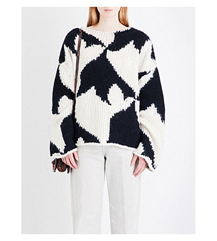 DRIES VAN NOTEN Tano wool-blend jumper (Ecru