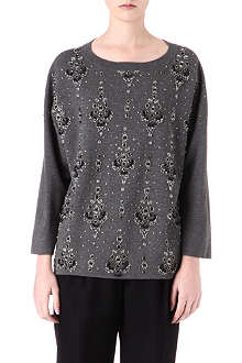 DRIES VAN NOTEN Embellished wool jumper