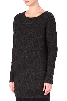 DRIES VAN NOTEN Knitted alpaca-blend dress