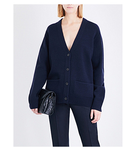 DRIES VAN NOTEN Tiffs knitted wool cardigan (Navy