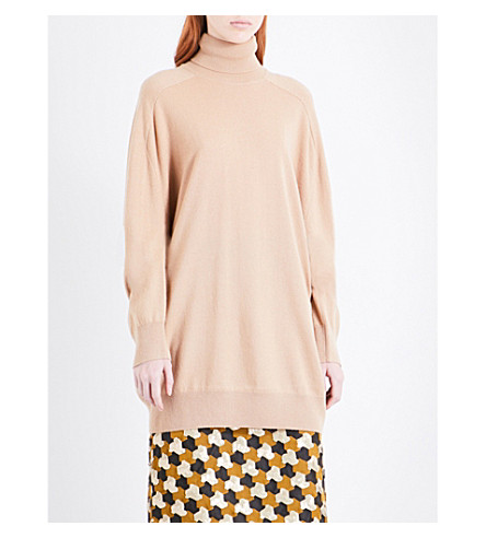DRIES VAN NOTEN Timael turtleneck cashmere jumper (Camel