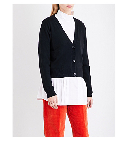 DRIES VAN NOTEN Tineke cropped wool cardigan (Black