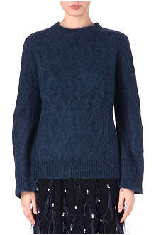 DRIES VAN NOTEN Alpaca-wool cable knit jumper