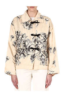 DRIES VAN NOTEN Silk-blend parka jacket