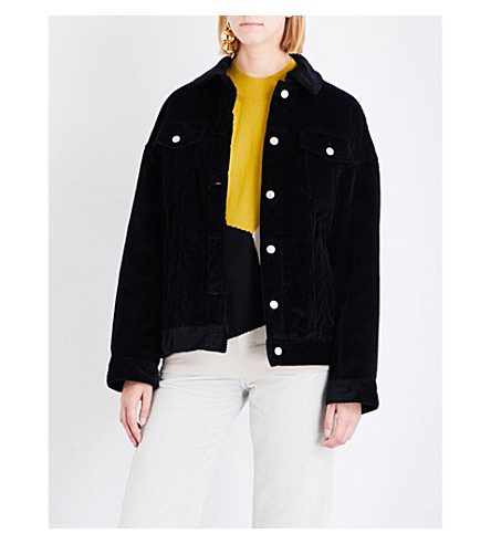 DRIES VAN NOTEN Vidale corduroy jacket (Black