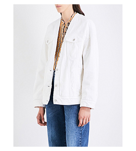 DRIES VAN NOTEN Vidaletris denim jacket (White