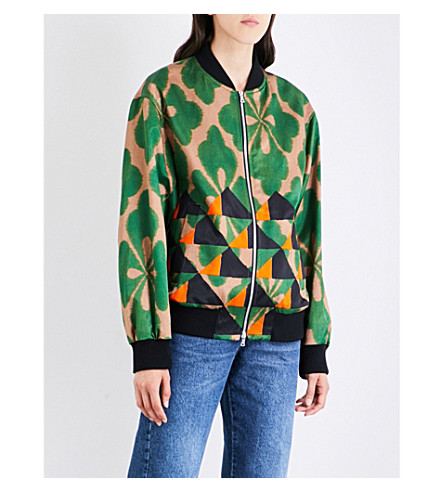 DRIES VAN NOTEN Vismes crepe and cotton-blend bomber jacket (Desb