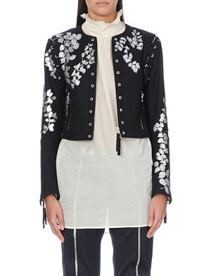 DRIES VAN NOTEN Vivica lace-up wool jacket